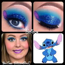 Purple Halloween Eye Makeup by Hi Darlings U003c3 This Look Is Inspired By Stitch From