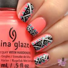 amazing aztec nail art trendy and cute on we heart it