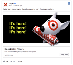 target black friday spend 75 get 20 off 2016 55 facebook ads that get the holiday advertising right
