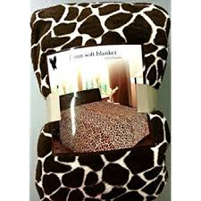 amazon com lavish home throw blanket fleece sherpa giraffe