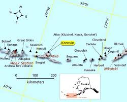 map of aleutian islands global volcanism program korovin