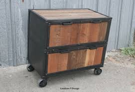 Rustic File Cabinet Industrial File Cabinet Reclaimed Wood Filing Cabinet