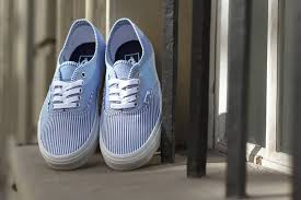 vans authentic multi stripes dress blue street sneakers