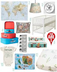 travel the world nursery rustic baby chic