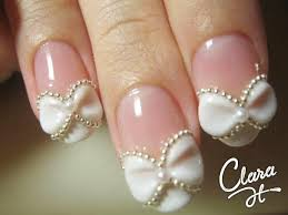 wedding nail designs bow nail art 2026769 weddbook