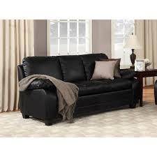 Chelsea Faux Leather Sofa Black Walmartcom - Chelsea leather sofa