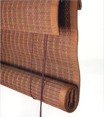 motorized woven wood blinds adorn dizines