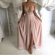 backless prom dress long prom dress simple prom dress