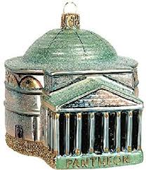 pantheon rome italy glass ornament
