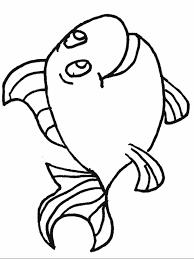 fish print kids coloring