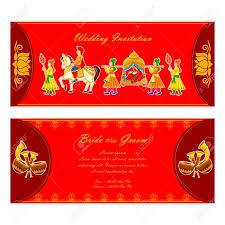 indian wedding invitation card vector illustration of indian wedding invitation card royalty free