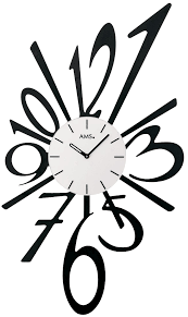 horloge murale cuisine originale pendule murale moderne chiffres décalés 3 6 9 pendule murale