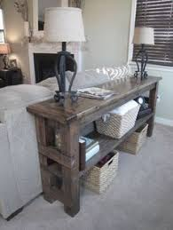Rustic Sofa Table by Handmade Trendy Sofa Entry Table Made From Reclaimed Pallets