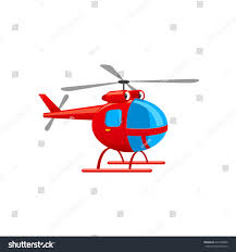 cute toy helicopter funny vector illustration stock vector