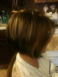 highlights for inverted bob inverted bob haircut chocolate brown base color with red