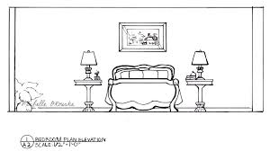lately floor plan and elevations of a bedroom i designed