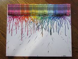 crayon craft glue crayons to a poster board and take a hair