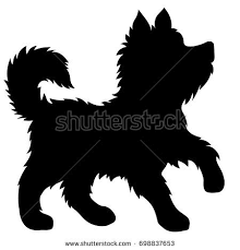 american eskimo dog vector dog silhouette stock images royalty free images u0026 vectors
