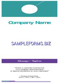 retail and consumer door hanger template u0026 samples forms
