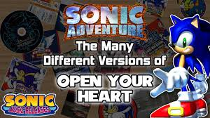 sonic releases the many different versions of open your