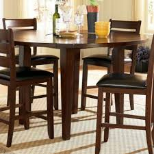 homelegance ameillia drop leaf round counter height table in dark