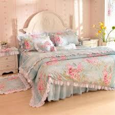 Princess Duvet Cover Wholesale Korean Pastoral Princess Bedding Set Cotton Lace Splice