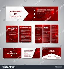 Corporate Invitation Card Design Valentines Day Banner Flyers Brochure Business Stock Vector