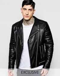 black leather biker jacket blackdust leather biker jacket with zip details and quilted