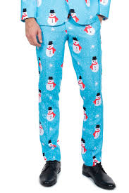 The Snowman is an Island Christmas Suit Pants  Tipsy Elves
