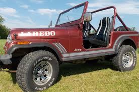 red jeep 2 door 1985 jeep cj7 laredo sport utility 2 door 4 2l classic jeep cj