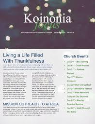 tree lights church newsletter design