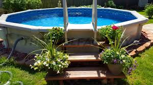 Landscape Designs For Backyard Landscaping Around Your Above Ground Pool