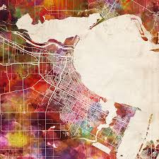 Corpus Christi Map Corpus Christi Map Texas 2 Painting By Map Map Maps