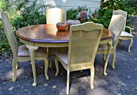 Country Dining Sets Heir And Space Buttercream Yellow French Country Dining Set