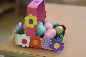 easter egg baskets to make easter egg basket to make at home children daycare and