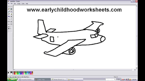 how to draw cartoon airplane easy step by step for kindergarten