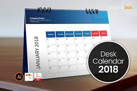 Desk Calendar Design Ideas Desk Calendar Template 2018 Stationery Templates Creative Market