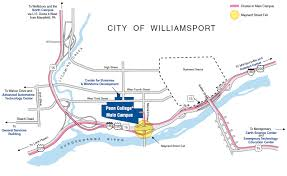 map of williamsport pa directions penn
