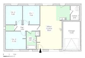 maison 3 chambres plain pied plan de maison plain pied 3 chambres gratuit construire sa salle de