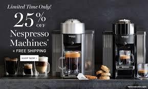 nespresso deals black friday 25 off nespresso machines at williams sonoma nerdwallet