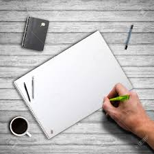 blank paper to write on ready to write on a blank paper block stock photo picture