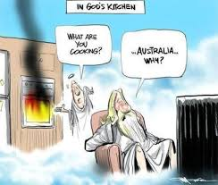 Michelin Man Meme - god cooking up australia down under comic