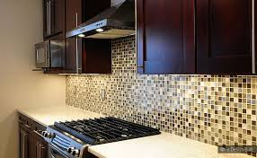 glass mosaic kitchen backsplash brown beige glass metal mix backsplash tile backsplash com