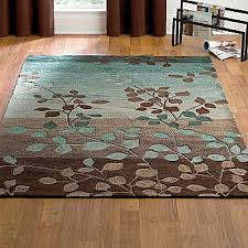 Leaf Area Rug Amazing Area Rug Cute Modern Rugs Square On Turquoise And Brown In