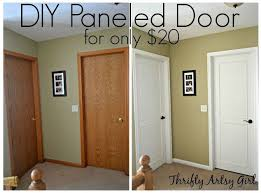 Interior Door Makeover Hollow Bore To A Beautiful Updated Door Diy Slab Door