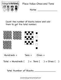 place value of ones and tens worksheet free kindergarten math