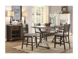 coaster dining room furniture coaster beckett rustic counter height dining table dunk u0026 bright