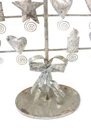 rustic grey christmas card tree