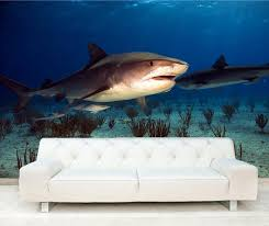adhesive tiger shark decorating wall mural art 127 free delivery