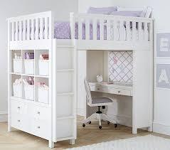 Bunk Bed Systems With Desk Elliott Loft System Pottery Barn